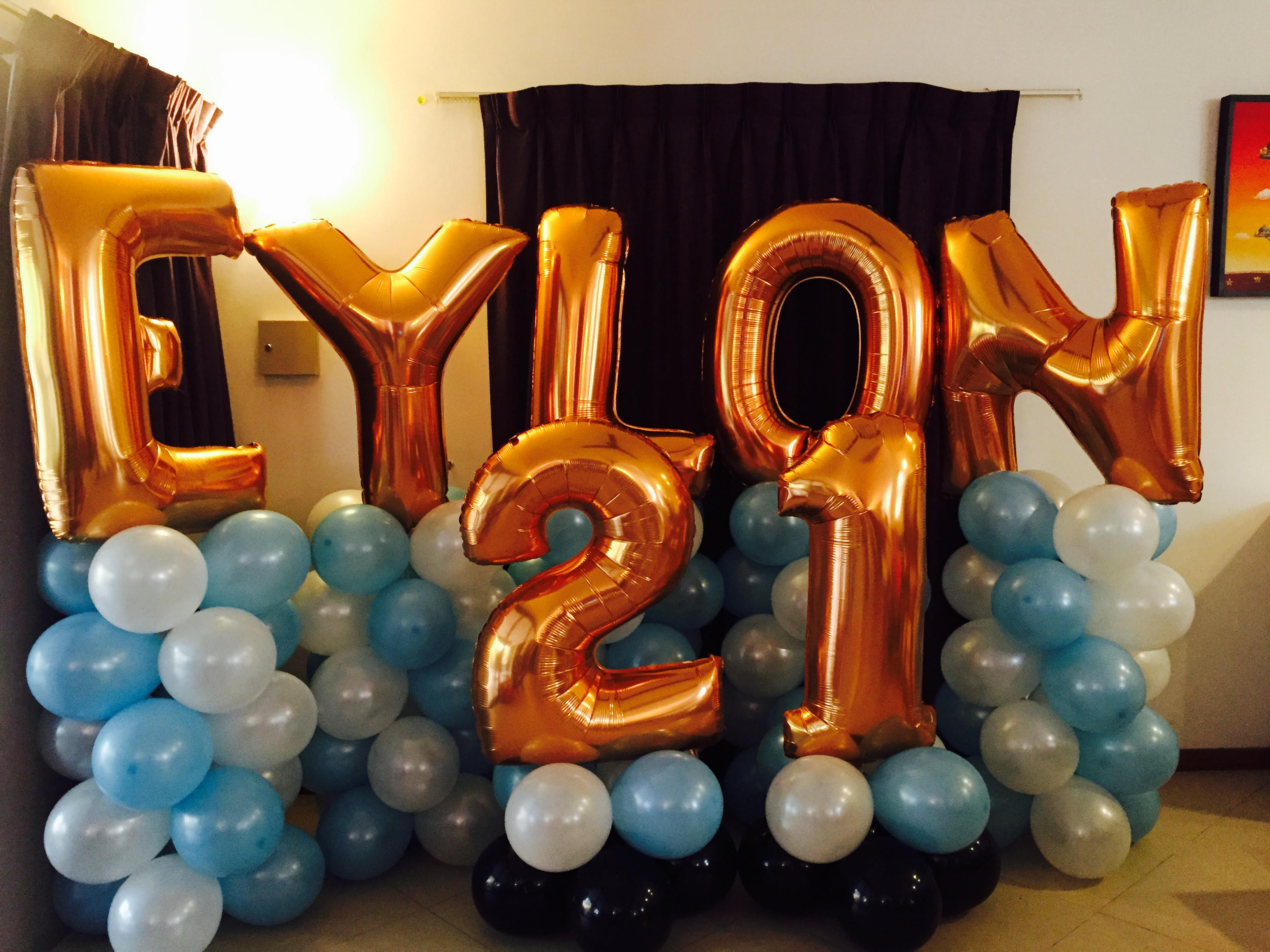 21st birthday balloon backdrop 2 mr polka s professional magic